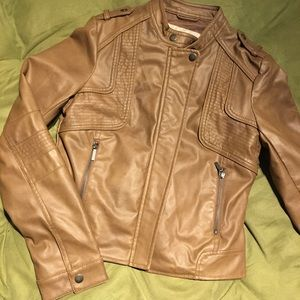 Arden B Faux Leather Moto Jacket small